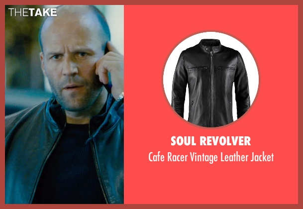 Soul Revolver black jacket from Furious 7 seen with Jason Statham (Deckard Shaw)