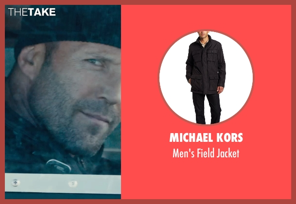 Michael Kors black jacket from Furious 7 seen with Jason Statham (Deckard Shaw)