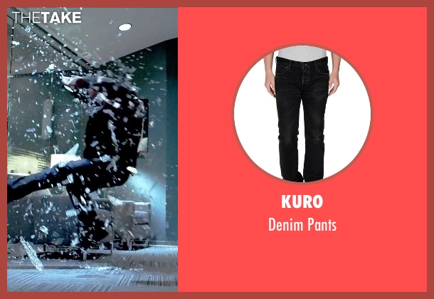 Kuro black pants from Furious 7 seen with Jason Statham (Deckard Shaw)