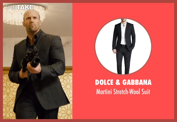 Dolce & Gabbana black suit from Furious 7 seen with Jason Statham (Deckard Shaw)