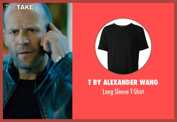 T By Alexander Wang black t-shirt from Furious 7 seen with Jason Statham (Deckard Shaw)