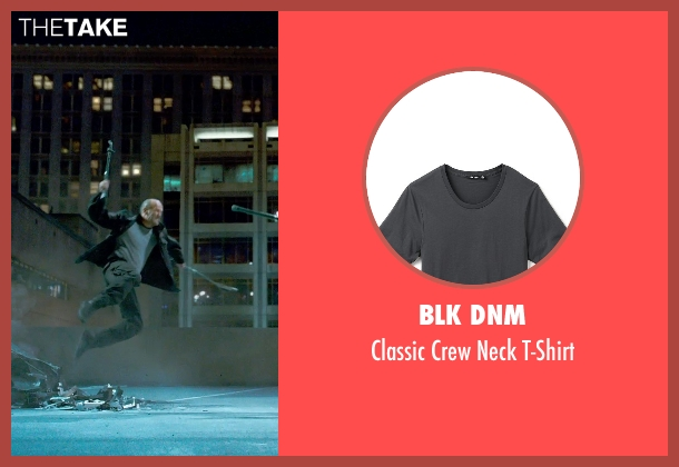 Blk Dnm gray t-shirt from Furious 7 seen with Jason Statham (Deckard Shaw)