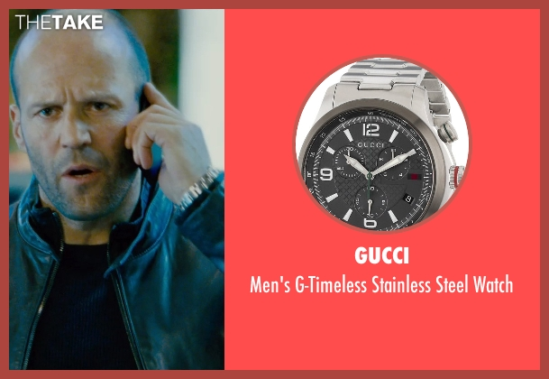 Gucci silver watch from Furious 7 seen with Jason Statham (Deckard Shaw)