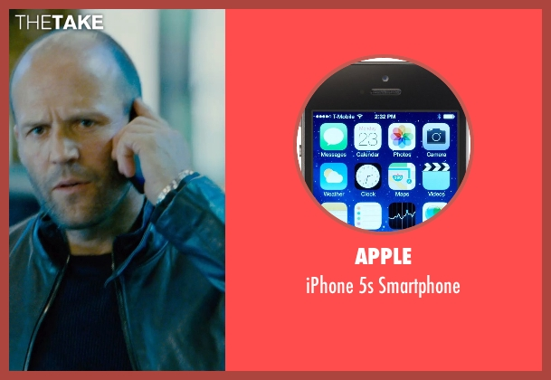 Apple smartphone from Furious 7 seen with Jason Statham (Deckard Shaw)