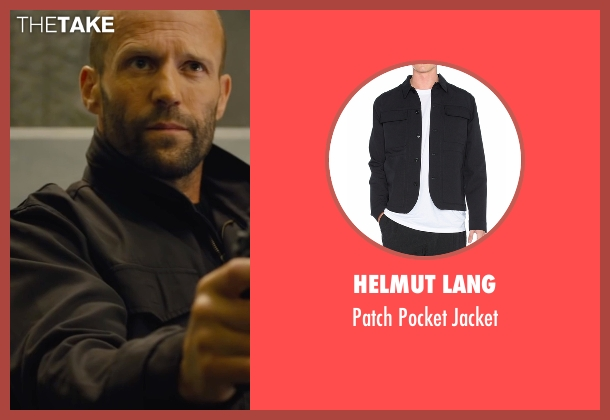 Helmut Lang black jacket from Mechanic: Resurrection seen with Jason Statham (Arthur Bishop)