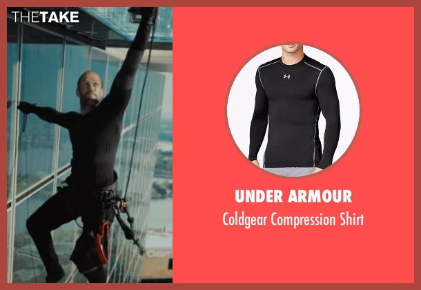 Under Armour black shirt from Mechanic: Resurrection seen with Jason Statham (Arthur Bishop)