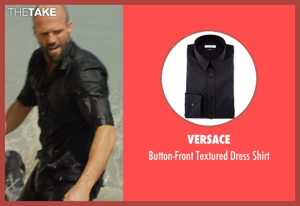 Versace black shirt from Mechanic: Resurrection seen with Jason Statham (Arthur Bishop)
