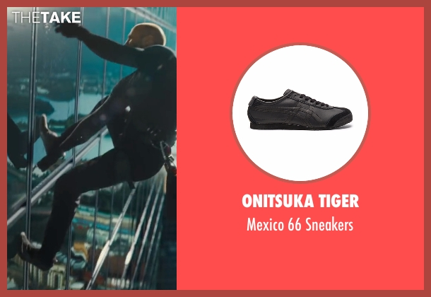 Onitsuka Tiger black sneakers from Mechanic: Resurrection seen with Jason Statham (Arthur Bishop)
