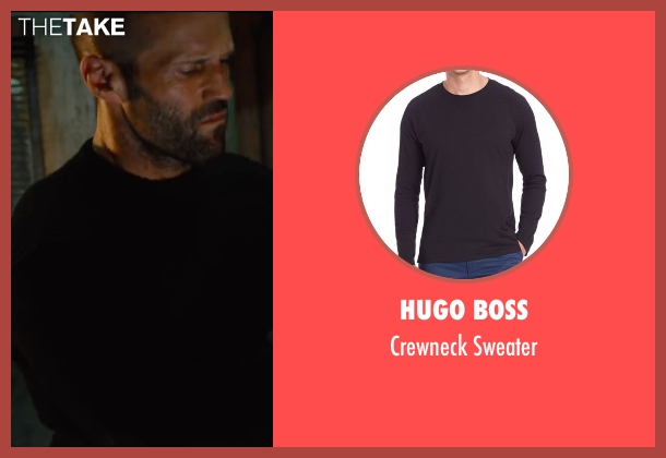 Hugo Boss black sweater from Mechanic: Resurrection seen with Jason Statham (Arthur Bishop)