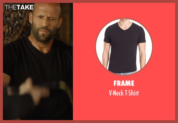 Frame black t-shirt from Mechanic: Resurrection seen with Jason Statham (Arthur Bishop)
