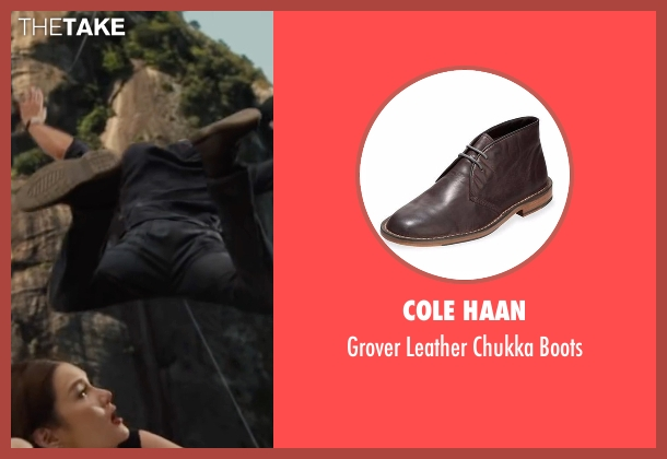 Cole Haan brown boots from Mechanic: Resurrection seen with Jason Statham (Arthur Bishop)