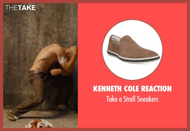 Kenneth Cole Reaction brown sneakers from Mechanic: Resurrection seen with Jason Statham (Arthur Bishop)