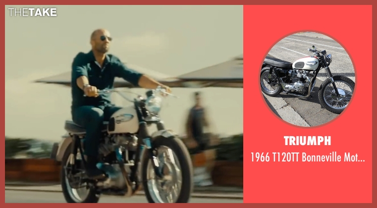 Triumph motorbike from Mechanic: Resurrection seen with Jason Statham (Arthur Bishop)