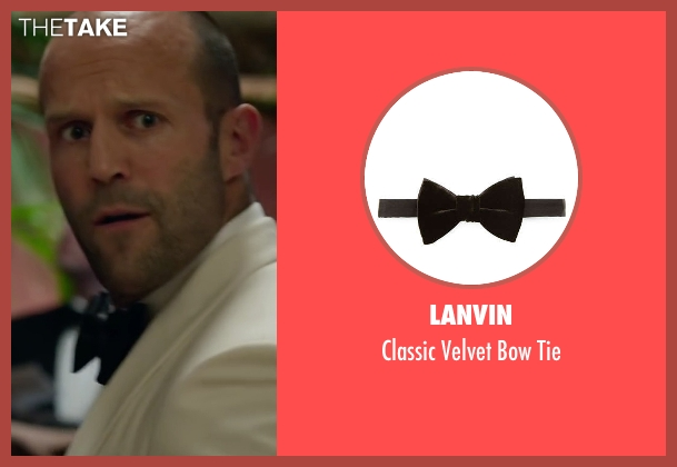 Lanvin black tie from Spy seen with Jason Statham (Rick Ford)