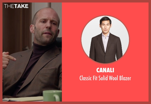 Canali brown blazer from Spy seen with Jason Statham (Rick Ford)