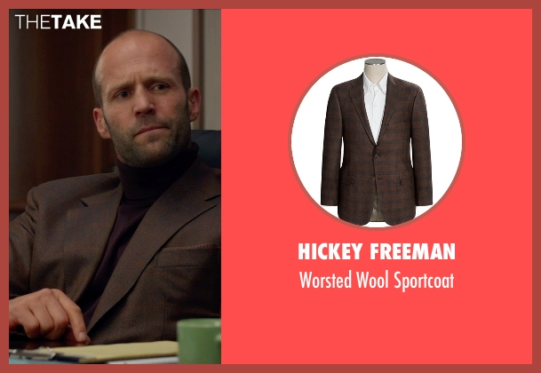 Hickey Freeman brown sportcoat from Spy seen with Jason Statham (Rick Ford)