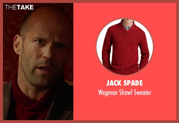 Jack Spade red sweater from Spy seen with Jason Statham (Rick Ford)