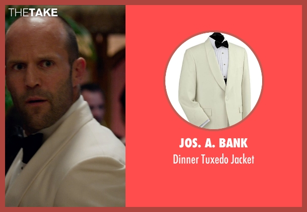 Jos. A. Bank white jacket from Spy seen with Jason Statham (Rick Ford)