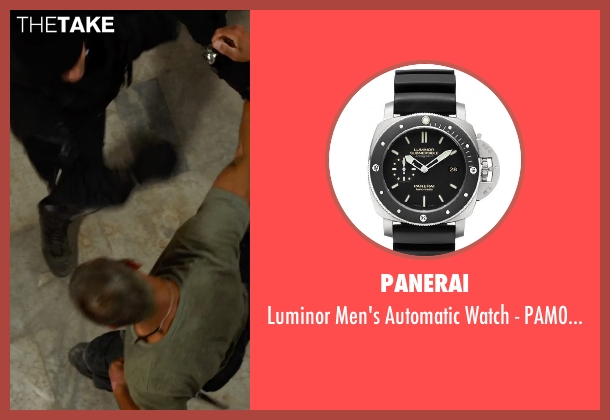 Panerai black pam00389 from The Expendables 3 seen with Jason Statham (Lee Christmas)