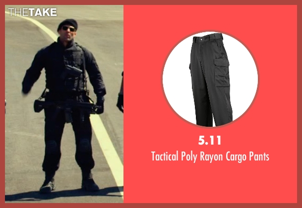 5.11 black pants from The Expendables 3 seen with Jason Statham (Lee Christmas)
