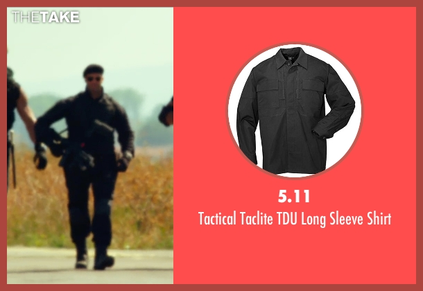 5.11 black shirt from The Expendables 3 seen with Jason Statham (Lee Christmas)