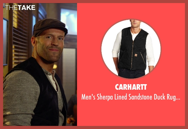 Carhartt black vest from The Expendables 3 seen with Jason Statham (Lee Christmas)