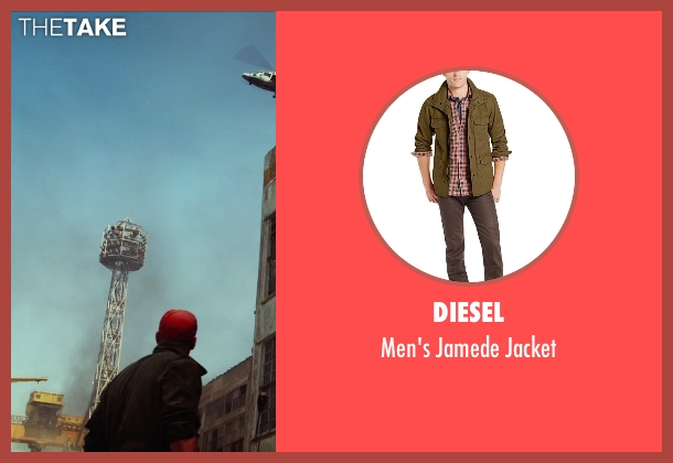 Diesel brown jacket from The Expendables 3 seen with Jason Statham (Lee Christmas)