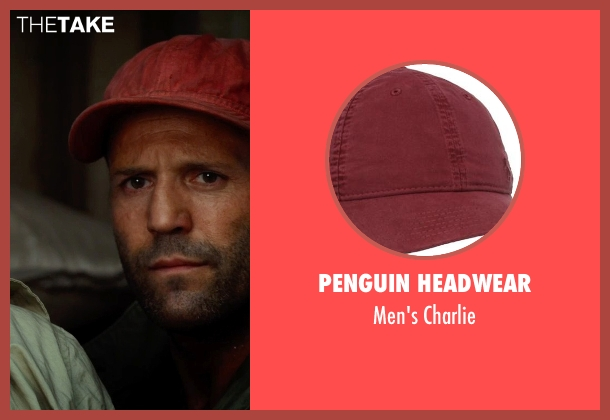 Penguin Headwear red charlie from The Expendables 3 seen with Jason Statham (Lee Christmas)