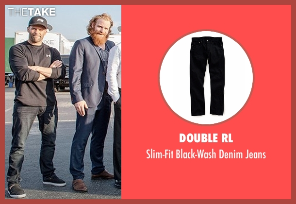 Double RL black jeans from The Fate of the Furious seen with Jason Statham (Deckard Shaw)