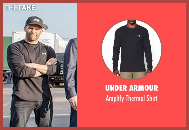 Under Armour black shirt from The Fate of the Furious seen with Jason Statham (Deckard Shaw)