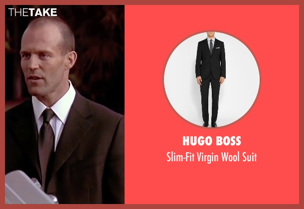 Hugo Boss black suit from The Transporter seen with Jason Statham (Frank Martin)