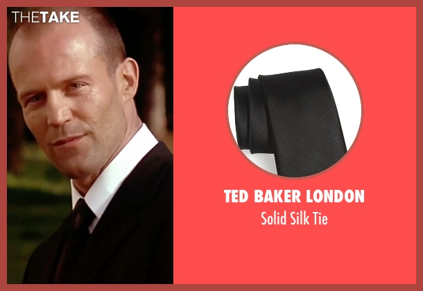 Ted Baker London black tie from The Transporter seen with Jason Statham (Frank Martin)