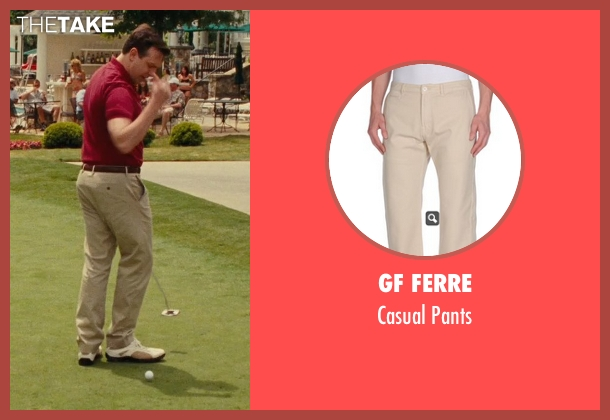 Gf Ferre beige pants from Hall Pass seen with Jason Sudeikis (Fred)