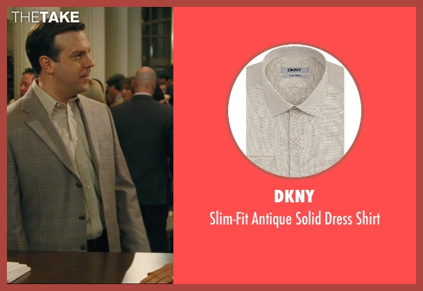 DKNY beige shirt from Hall Pass seen with Jason Sudeikis (Fred)