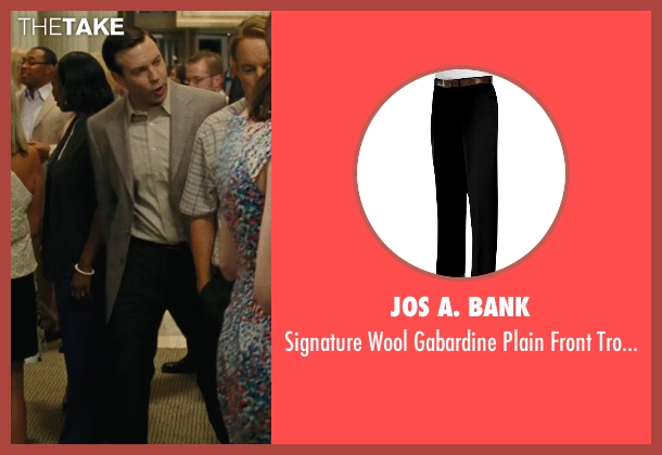 Jos A. Bank black trouser from Hall Pass seen with Jason Sudeikis (Fred)