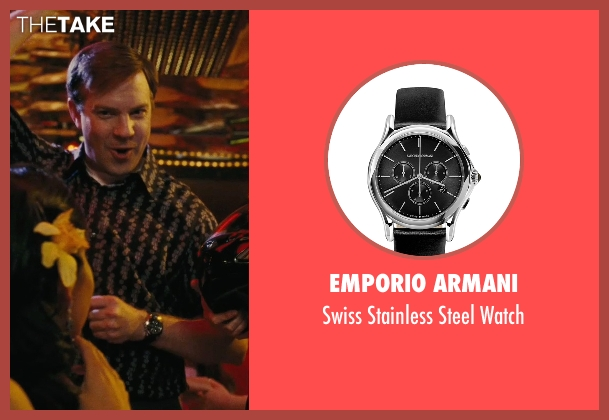 Emporio Armani black watch from Hall Pass seen with Jason Sudeikis (Fred)