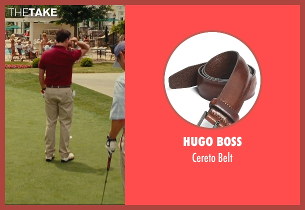 Hugo Boss brown belt from Hall Pass seen with Jason Sudeikis (Fred)