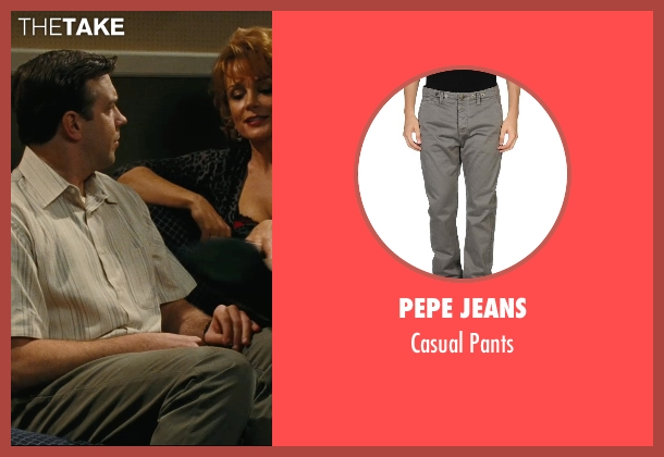 Pepe Jeans gray pants from Hall Pass seen with Jason Sudeikis (Fred)