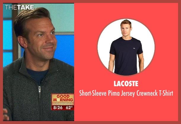 Lacoste blue t-shirt from Horrible Bosses 2 seen with Jason Sudeikis (Kurt Buckman)