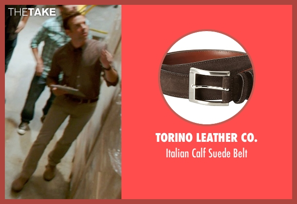 Torino Leather Co. brown belt from Horrible Bosses 2 seen with Jason Sudeikis (Kurt Buckman)