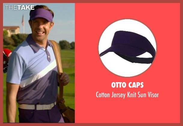 Otto Caps purple visor from Horrible Bosses 2 seen with Jason Sudeikis (Kurt Buckman)