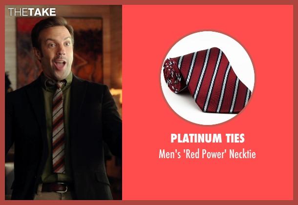 Platinum Ties red necktie from Horrible Bosses 2 seen with Jason Sudeikis (Kurt Buckman)
