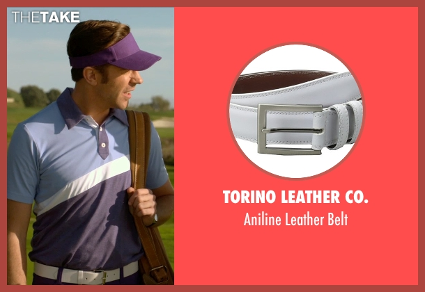 Torino Leather Co. white belt from Horrible Bosses 2 seen with Jason Sudeikis (Kurt Buckman)