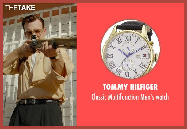 Tommy Hilfiger gold watch from Masterminds seen with Jason Sudeikis (Mike McKinney)
