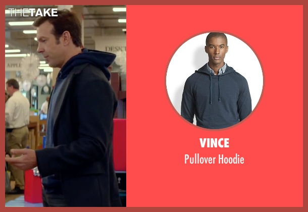 Vince blue hoodie from Sleeping with Other People seen with Jason Sudeikis (Jake)