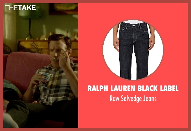 Ralph Lauren Black Label blue jeans from Sleeping with Other People seen with Jason Sudeikis (Jake)
