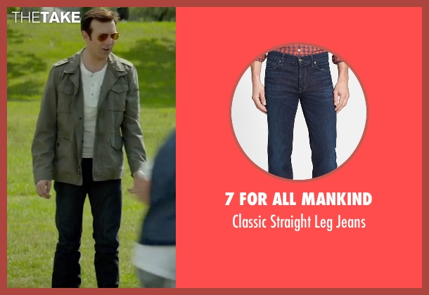 7 For All Mankind blue jeans from Sleeping with Other People seen with Jason Sudeikis (Jake)