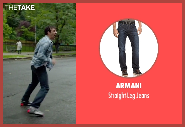 Armani blue jeans from Sleeping with Other People seen with Jason Sudeikis (Jake)