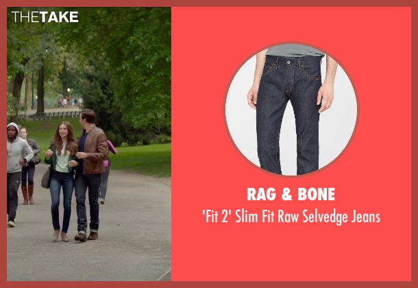 Rag & Bone blue jeans from Sleeping with Other People seen with Jason Sudeikis (Jake)