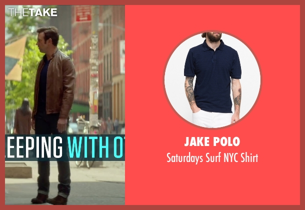Jake Polo blue shirt from Sleeping with Other People seen with Jason Sudeikis (Jake)